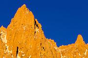 Spires on the Sierra crest near Mount Whitney, John Muir Wilderness, California