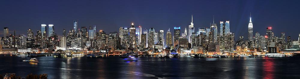 Night in New York City.