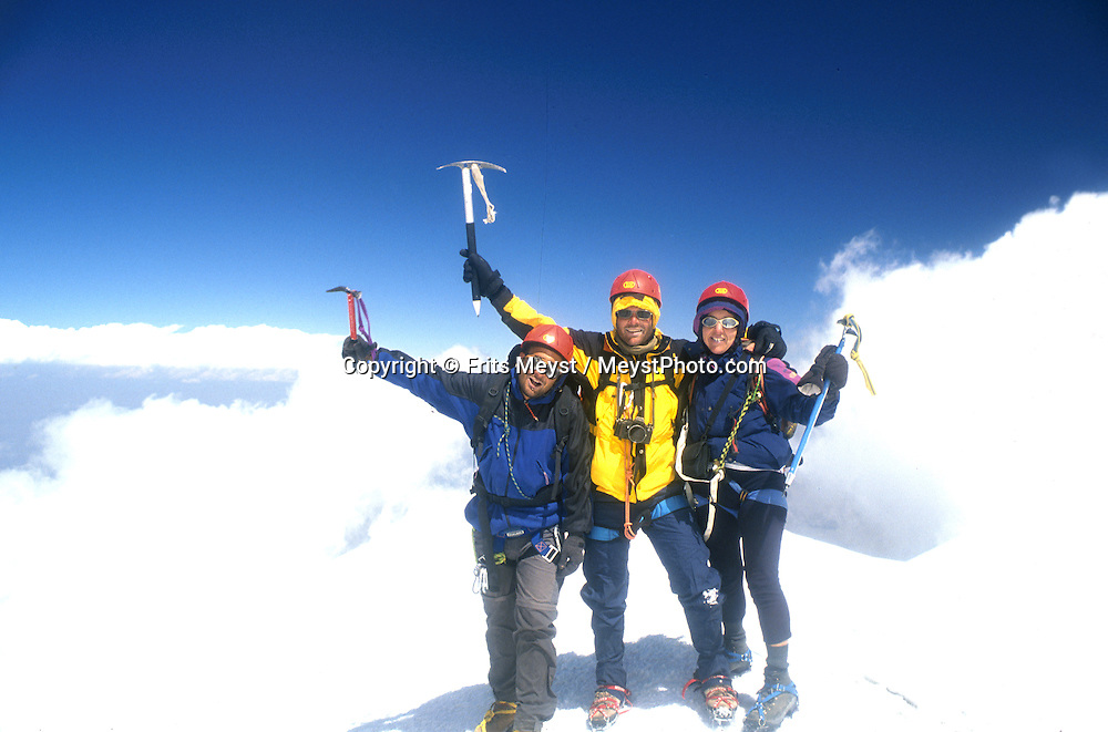 MOUNT ARARAT, TURKEY, AUGUST 2002 .Mountaineers on their way from camp two to the summit.  Mount Ararat is with its 5137 meters the highest mountain in Turkey. It has been closed to foreigners until 2001, due to guerilla activity on the mountain. Photo by Frits Meyst/Adventure4ever.com