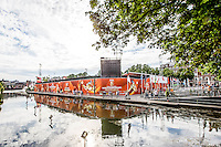 DEN HAAG - Poulewedstrijd Meppelink/van Iersel tegen Mashkova / Tsimbalova , Beachvolleybal , WK Beach Volleyball 2015 , 26-06-2015 , Het WK stadion op de Hofvijver