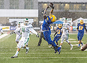 Grant High School Pacer's Deondre' Whittington-Grays (1), just misses a catch during the first quarter as Grant High School plays St. Mary's High School in the SAC-Joaquin Section Division II Championship game at Sacramento State, Friday December 5, 2014.<br /> Brian Baer/Special to the Bee