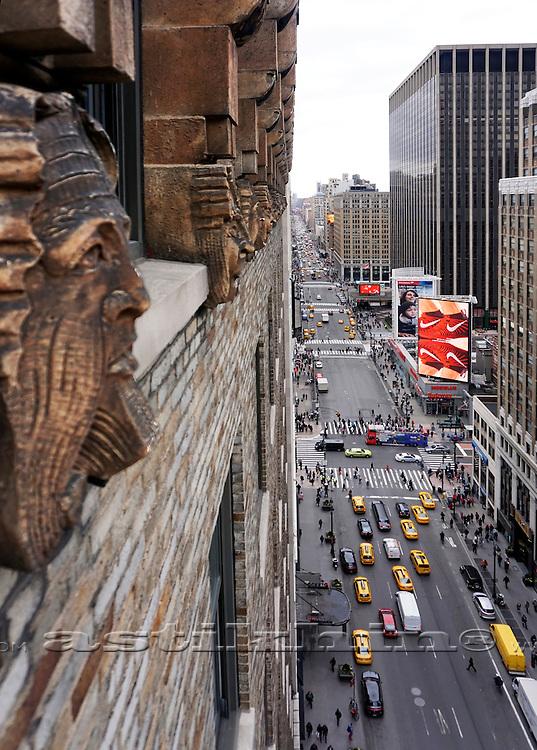 Barelief sculpture in Manhattan.