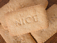 Nice Biscuits, Which are a thin Coconut flavoured biscuit and rectangle in shape - Mar 2015.