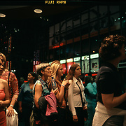 Series on the Transformation of Times Square from a seedy neighborhood into a tourist destination during the boom of the late 1990's.