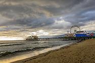 Santa Monica Pier, Twilight, Santa Monica, California