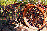 Steel tractor wheels in Yara, Granma, Cuba.