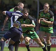 01/06/2002.Sport - Rugby - Zurich Championship.Bristol v Northampton.Budge Pountney, on the run.   [Mandatory Credit, Peter Spurier/ Intersport Images].