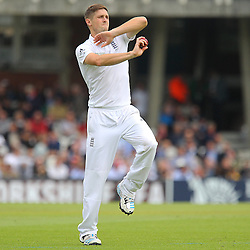 England's Chris Woakes  during the first day of the Investec 5th Test match between England and India at the Kia Oval, London, 15th August 2014 © Phil Duncan | SportPix.org.uk