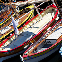 "Le pointu provencal-Traditional boats from Provence called ""Pointus"""