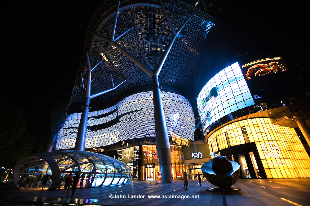 "ION Orchard was designed to be the ""centre of gravity"" on Singapore's Orchard Road retail scene, with a spectacular facade, cutting edge design and concepts. Built over Singapore's metro system at Orchard Road Station it is hard to miss its fashion boutiques stores all located within one development, with over eight levels of shopping space at the prime site of Singapore's commercial and shopping artery."