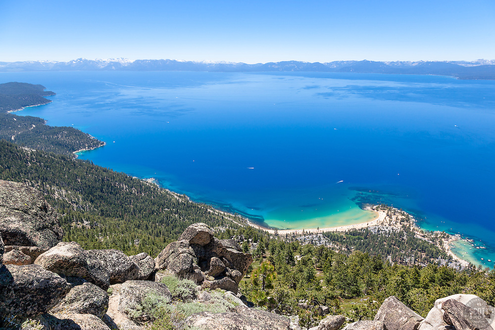 """""""Boulders above Sand Harbor 3"""" - These boulders were photographed above Sand Harbor, Lake Tahoe."""