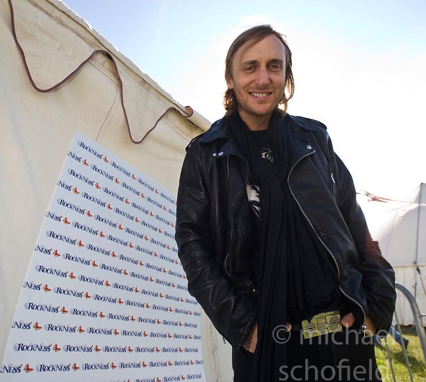 DJ David Guetta talks to the press. Rockness, Saturday 13th June 2009..Pic © Michael Schofield. All Rights Reserved.