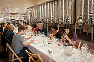 Stoller Vineyards library tasting of chardonnay and pinot noir with staff and select cellar club members