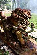 Lion and snake in Parque Nacional la Guira, Pinar del Rio Province, Cuba.