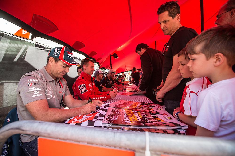 V8 Super car fan day. Craig Lowndes. 3 November 2016.  Photo:Gareth Cooke/Subzero Images
