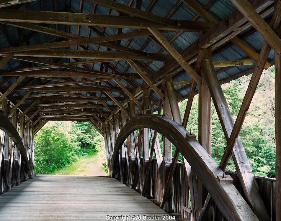 Inside Pittsburg-Clarksville Covered Bridge