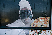 Pulcinella, a famous theater character, believed to have originated from a painting of a peasant in Acerra, is depicted throughout the region. He is always dressed in white with a black mask representing the opposites of life and death. His personality embodies that duality as well, as he is nice but mean, happy yet sad, good and evil.