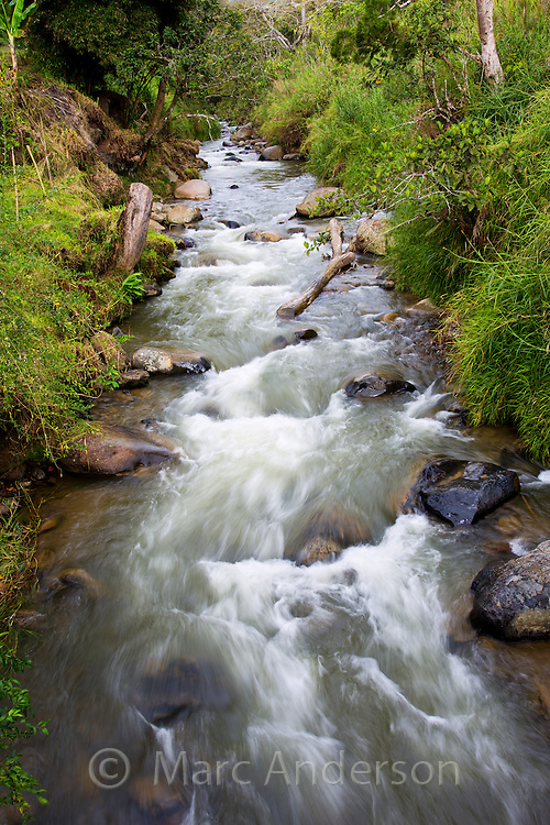 Fast flowing river in the Papua New Guniea Highlands.