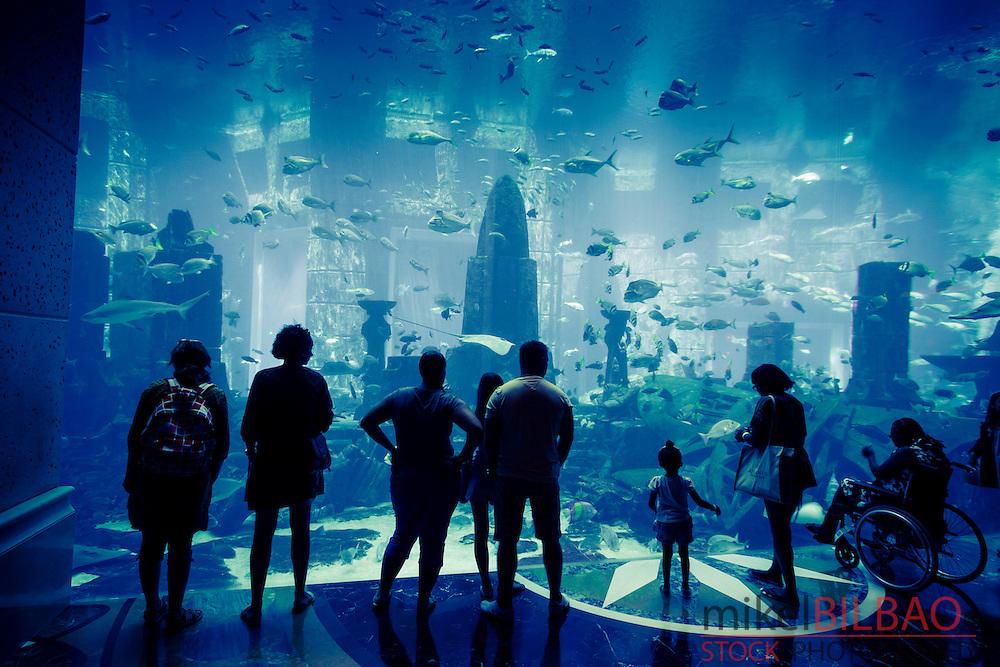 Aquarium. Atlantis, The Palm Hotel. Palm Jumeirah. Dubai city.  Dubai. United Arab Emirates.