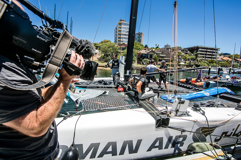 The Extreme sailing Series 2016. Act 8. Sydney. Australia . Day 2. Image licensed to Jesus Renedo/Lloyd Images