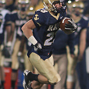 Navy SB (#23) Bo Snelson rushing for 8 yards to the CMU29 early in the fourth quarter on a brisk Saturday afternoon at Marine Corps Memorial Stadium in Annapolis Maryland...Navy improves to 7-3, Navy will return home November 20 to face Arkansas State.