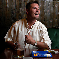 UK. Liverpool. Professional 'Streaker' Mark Roberts in a pub close to Liverpool Docks..Photo©Steve Forrest/Workers' Photos
