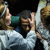 A migrant suffering from ipothermia is rescued by volunterers after crossing the Aegean sea. FEDERICO SCOPPA/CAPTA