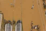 Aerial photography of flooding around St. Louis
