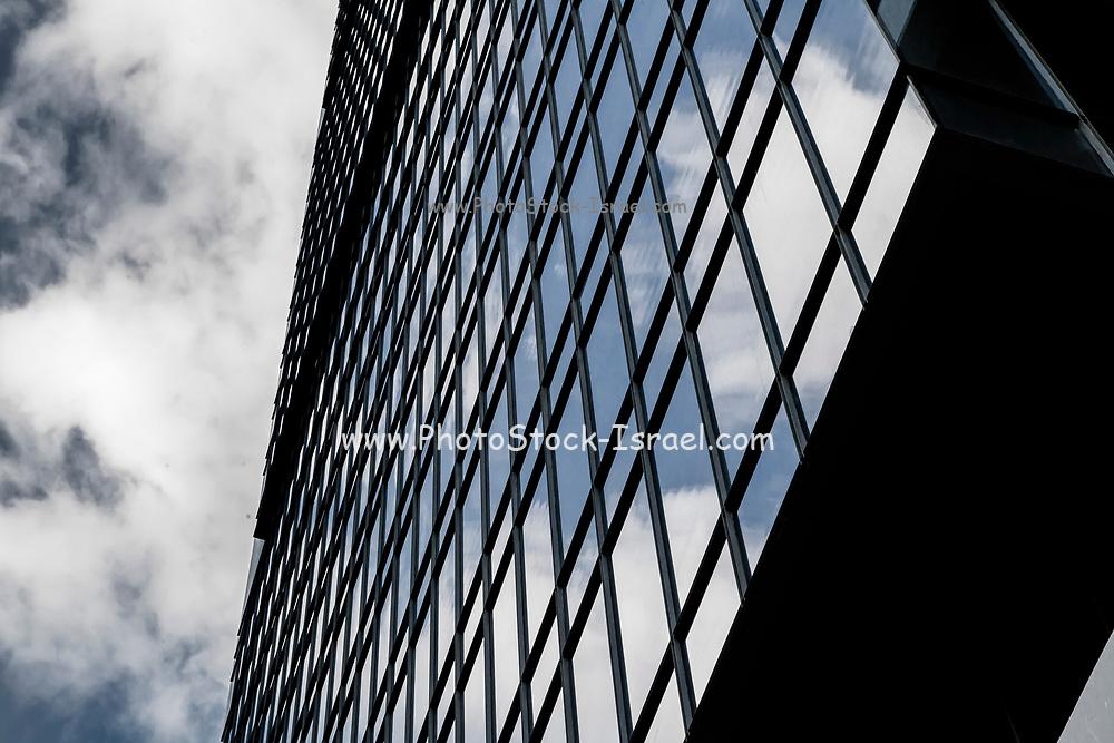 Modern, glass faced High rise building