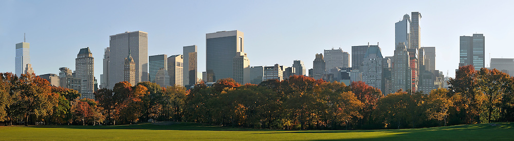 Central Park and buildings in Manhattan, New York City USA