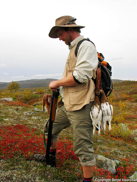 Grouse hunting in Lierne, Norway.