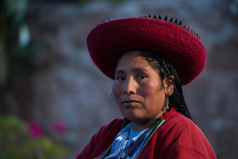 South America, Peru, Cuzco,Quechua woman
