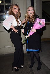 Lauren Goodger attends Marino Laslo's gig at St James Theatre, Victoria, London on Saturday 22 February 2014