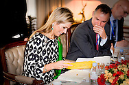 18-11-2015 DHAKA Queen Máxima meets H.E Zunaid Ahmed Palak State Minister Ministry of Post, Telecommunications & Information in the  Pan Pacific Sonargaon Hotel .Queen Máxima visits at the invitation of Bangladesh and as a special advocate of the Secretary-General of the United Nations for inclusive finance for development. COPYRIGHT ROBIN UTRECHT