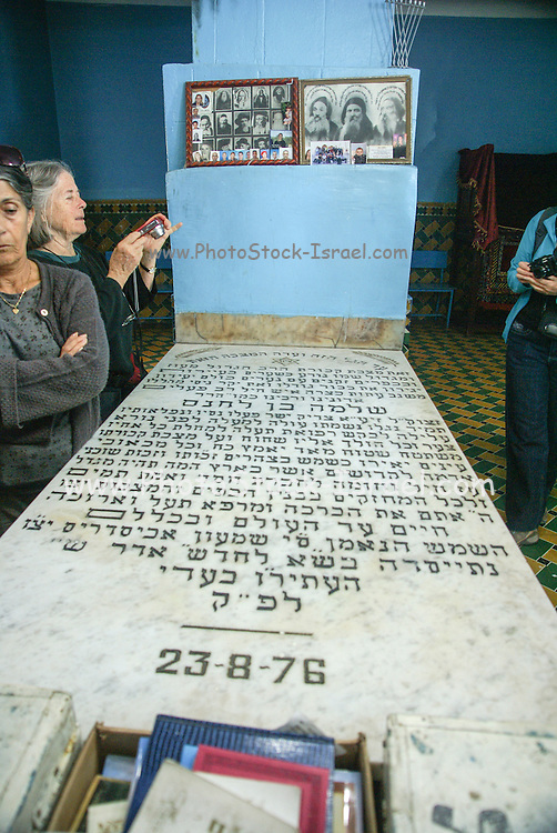 Morocco, Ourika Valley, The tomb of a tzadik, Rabbi Shlomo ben Hensh, dead 500 years but still revered like a saint.