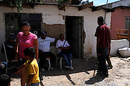 Family gather at the mother's house of Sergio Adrian Hernandez Guereca, who was killed yesterday by a Border Patrol agent, the family is shown in the house of his mother on June 8, 2010 in Ciudad Juarez.
