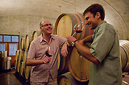 Enjoying a private barrel tasting with winemaker Anthony King at Lemelson Winery, Carlton,  Willamette Valey, Oregon