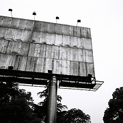 An empty billboard in a road in Yichang