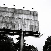 An empty billboard in a road in Yichang
