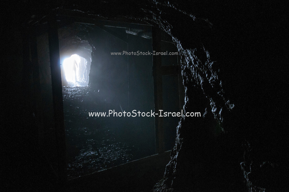 interior of the World War I tunnel system on Mount Marmolada in northeastern Italy. The highest mountain of the Dolomites