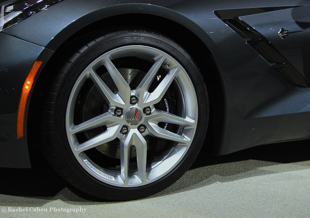 &quot;2014 Chevy Corvette Wheel&quot;<br /> <br /> The all new 2014 Chevrolet Corvette Stingray! Wheel, logo, vent, and stingray symbol!<br /> <br /> Cars and their Details by Rachel Cohen