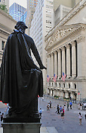 NYC, Wall Street, George Washington Statue.