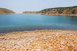 Saline lake at the northern end of Macleay Island on the Kimberley coast.