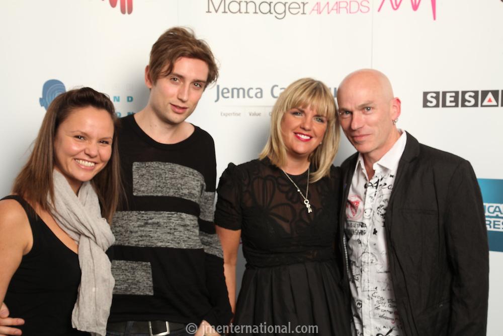 Frankie, Andrew and Angie (3 Monkeys PR) Moxham with Mark Kelly