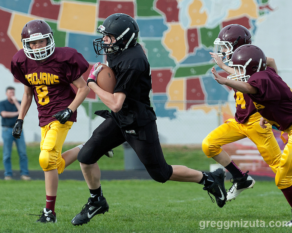 Vale vs Nampa Christian 8th grade football on October 14, 2014 at Nampa Christian Elementary School, Nampa, Idaho.