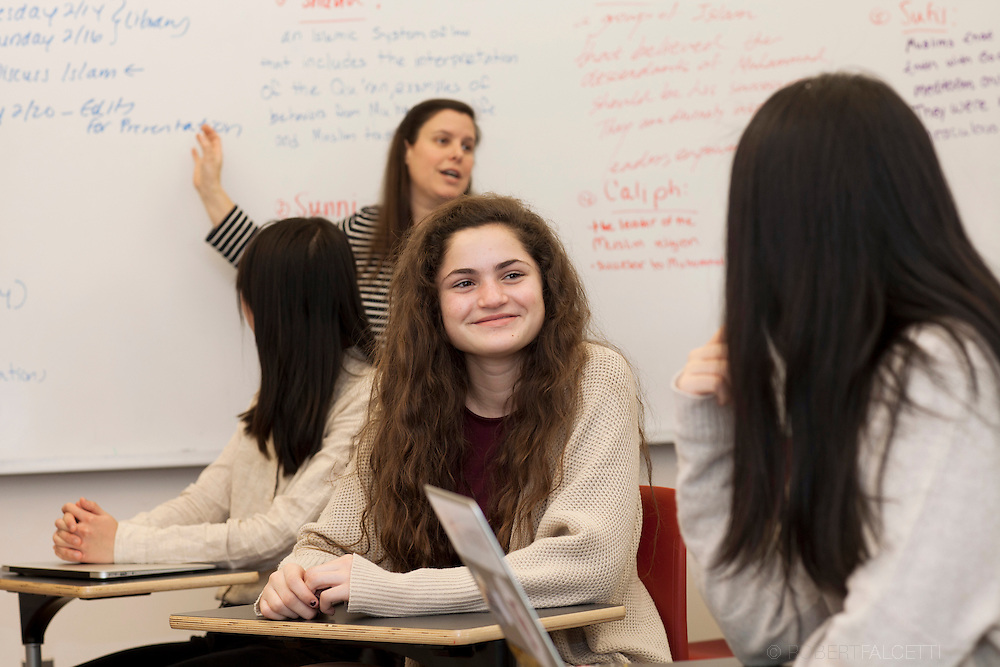 February 13, 2017: Feature on freshman at the Gunnery School. (Photo by Robert Falcetti)