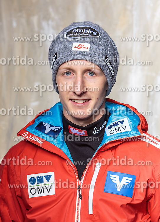 08.10.2016, Olympia Eisstadion, Innsbruck, AUT, OeSV Einkleidung Winterkollektion, Portraits 2016, im Bild Markus Schiffner, Skisprung, Herren // during the Outfitting of the Ski Austria Winter Collection and official Portrait Photoshooting at the Olympia Eisstadion in Innsbruck, Austria on 2016/10/08. EXPA Pictures © 2016, PhotoCredit: EXPA/ JFK