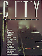 City Magazine Cover, Twin Towers Fog, New York