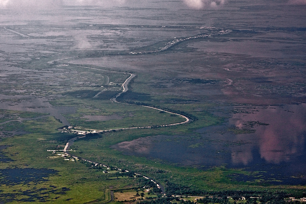 Louisiana State Route 300 Looking Toward Delacroix, St. Bernard Parish, Louisiana, USA