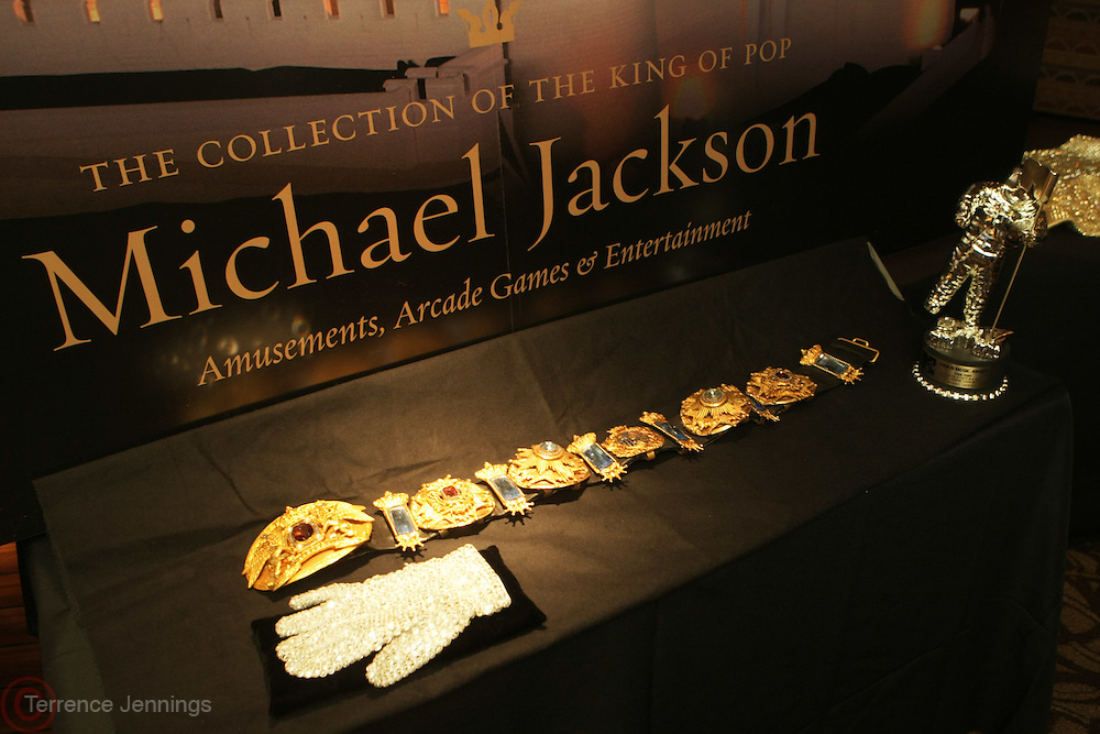 "Atmosphere at Exclusive Media Preview for Highlights from the Michael Jackson: "" King of Pop "" featuring Michael Jackson's iconic right hand glove completely covered in Swarovski crystals worn by the "" King of Pop "" in his legendary performances of  ""Billie Jean""  held at The Hard Rock Cafe New York at Times Square on March 24, 2009 in New York City"